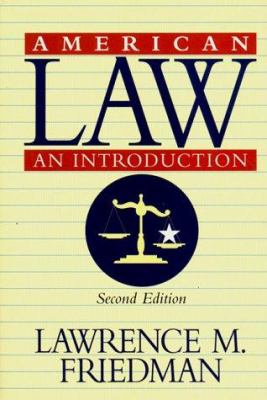 American Law: An Introduction 9780393046106