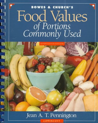 Bowes and Church's Food Values of Portions Commonly Used 9780397554355