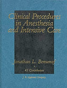 Clinical Procedures in Anesthesia and Intensive Care 9780397509508