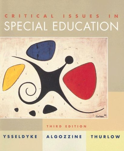 Critical Issues in Special Education 9780395961278