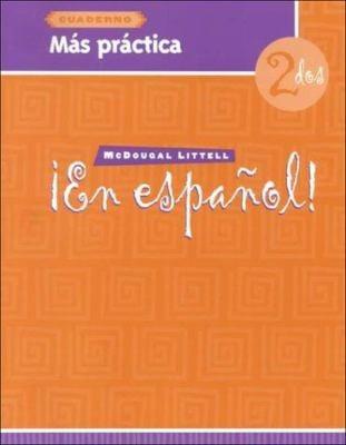 En Espanol! Mas Practica Cuaderno Level 2 9780395958094