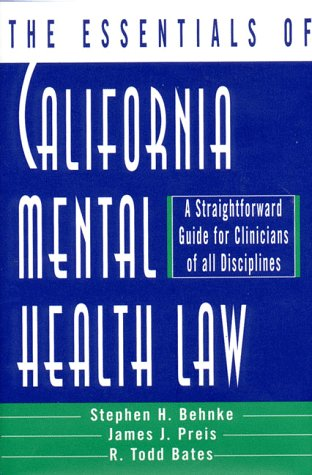 Essentials of California Mental Health Law 9780393702507