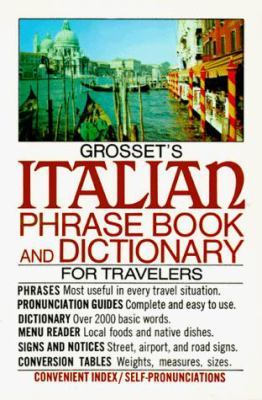Grosset's Italian Phrase Book and Dictionary for Travelers [With Coupon Card for Free Language Record]
