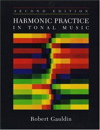 Harmonic Practice in Tonal Music 9780393976663