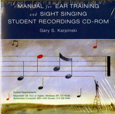 Manual for Ear Training and Short Singing Student Recordings CD-ROM 9780393104370