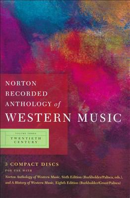 Norton Recorded Anthology of Western Music 9780393113112