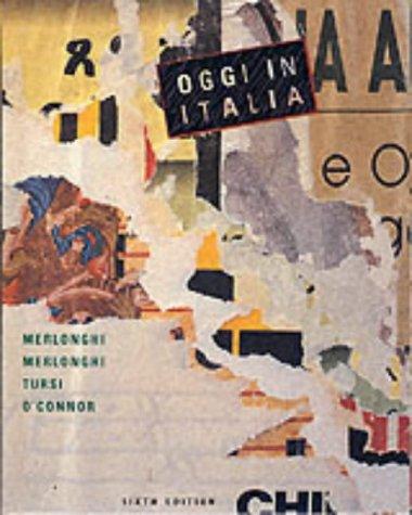 Oggi in Italia: A First Course in Italian 9780395859001