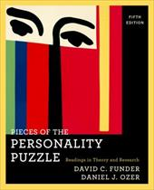 Pieces of the Personality Puzzle: Readings in Theory and Research 1203380