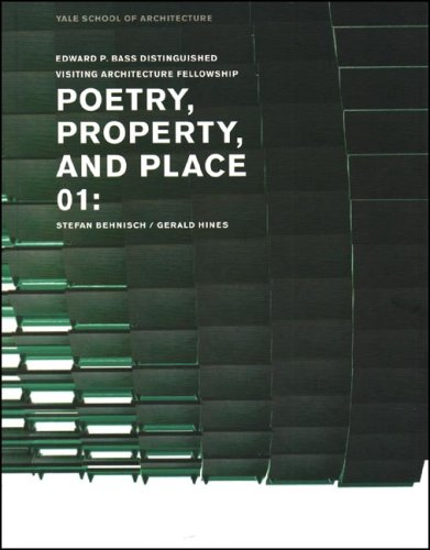 Poetry, Property, and Place: 01: Stefan Behnisch / Gerald Hines 9780393732207