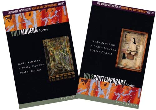 The Norton Anthology of Modern and Contemporary Poetry 9780393324297