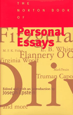 The Norton Book of Personal Essays 9780393036541