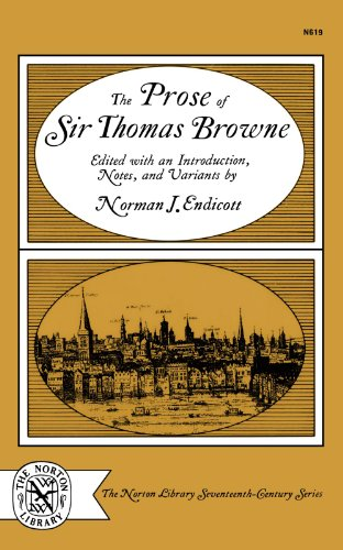 The Prose of Sir Thomas Browne 9780393006193