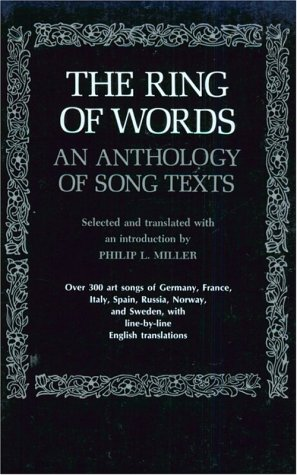 The Ring of Words: An Anthology of Song Texts 9780393006773