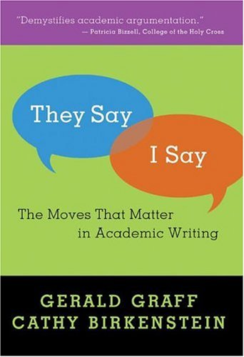the moves that matter in academic writing Crtw 201 hiner strategies for successful academic writing: tips from they say, i say: the moves that matter in academic writing.