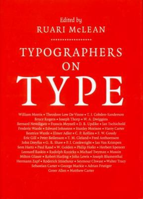Typographers on Type 9780393702019