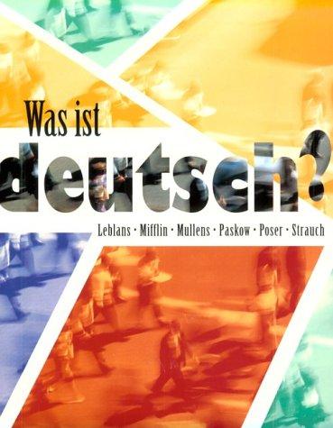 Was Ist Deutsch? 9780395885345