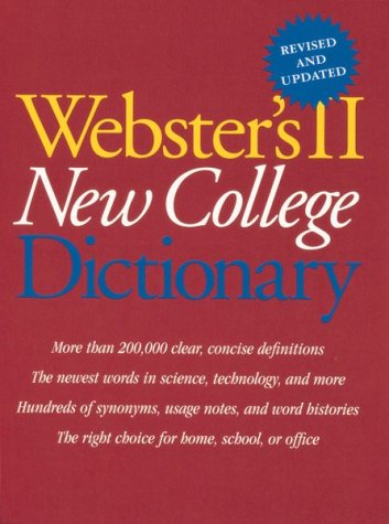 Webster's II New College Dictionary 9780395962145
