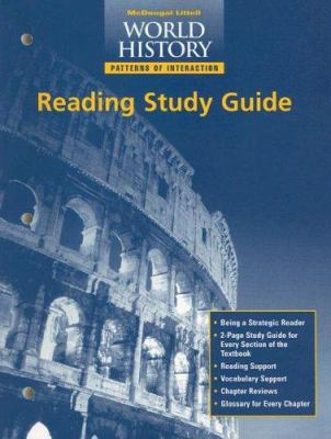 World History Reading Study Guide: Patterns of Interaction 9780395952047