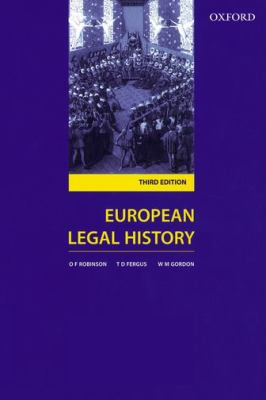 European Legal History: Sources and Institutions - 3rd Edition