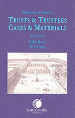 Maudsley & Burn's Trusts and Trustees: Cases and Materials