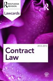 Contract Lawcards 2012-2013