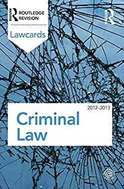 Criminal Lawcards 2012-2013 9780415683333