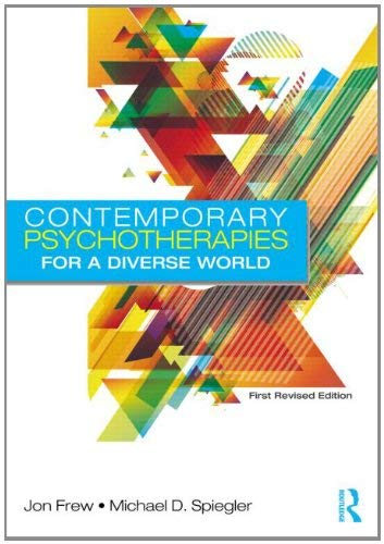 Contemporary Psychotherapies for a Diverse World 9780415898386