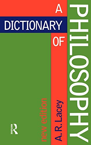 A Dictionary of Philosophy: Third Edition 9780415133326