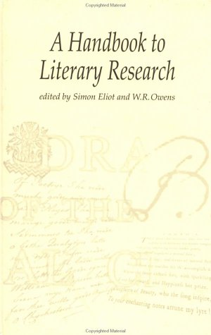 The Handbook to Literary Research 9780415198592