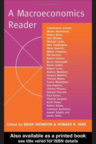 A Macroeconomics Reader 9780415157155