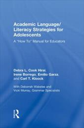 """Academic Language/Literacy Strategies for Adolescents: A """"How-To"""" Manual for Educators 1344128"""