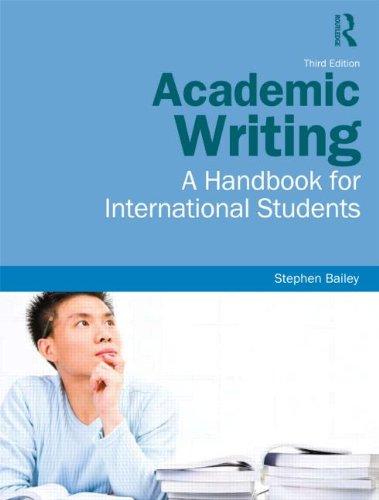 Academic Writing: A Handbook for International Students 9780415595810