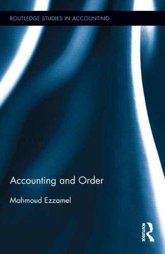 Accounting and Order 9780415482615