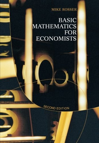 Basic Mathematics for Economists 9780415267847
