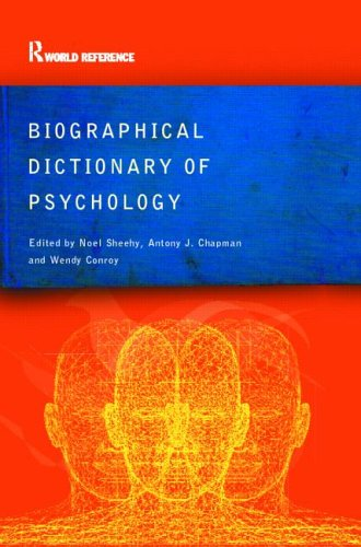 Biographical Dictionary of Psychology 9780415285612