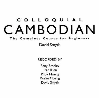 Colloquial Cambodian 9780415155380