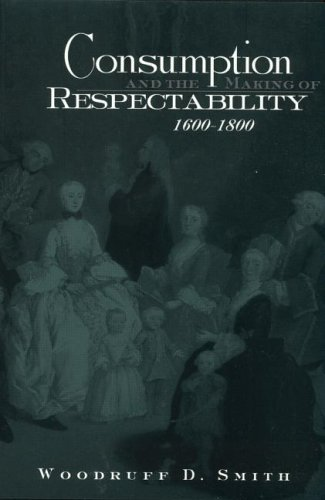 Consumption and the Making of Respectability, 1600 1800 9780415933292