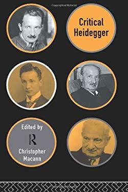 Critical Heidegger 9780415129503