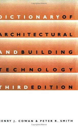 Dictionary of Architectural and Building Technology 9780419222804