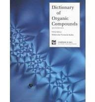 Dictionary of Organic Compounds, Sixth Edition, 9 Volumes, Box 1 of 2 - 6th Edition