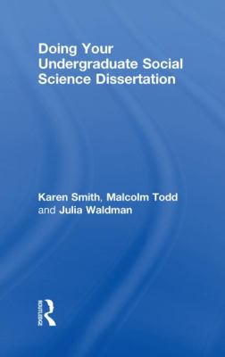 Doing Your Undergraduate Social Science Dissertation 9780415467483