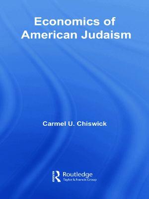 Economics of American Judaism 9780415701570