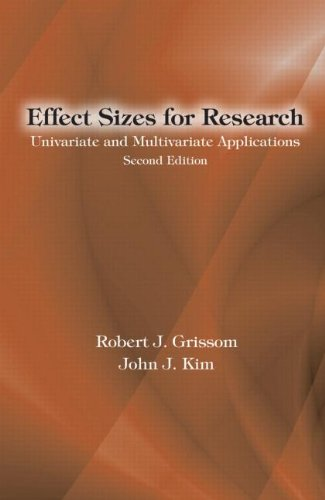 Effect Sizes for Research: Univariate and Multivariate Applications 9780415877695