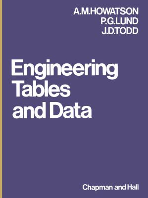 Engineering Tables and Data 9780412115509