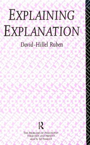Explaining Explanation 9780415087650