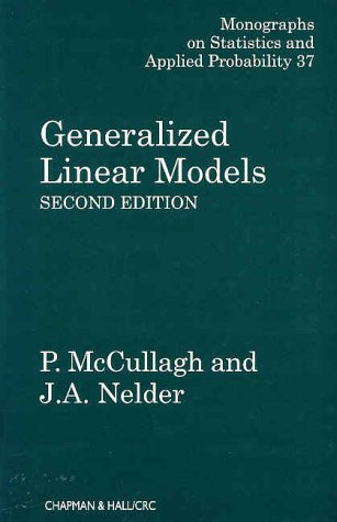 Generalized Linear Models, Second Edition 9780412317606