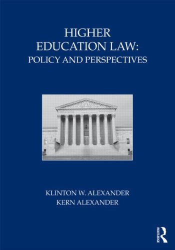 Higher Education Law: Policy and Perspectives 9780415800310