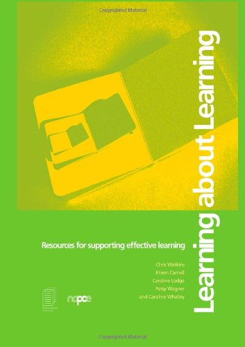 Learning about Learning: Resources for Supporting Effective Learning 9780415223492