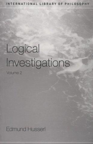 Logical Investigations: Volume II 9780415241908