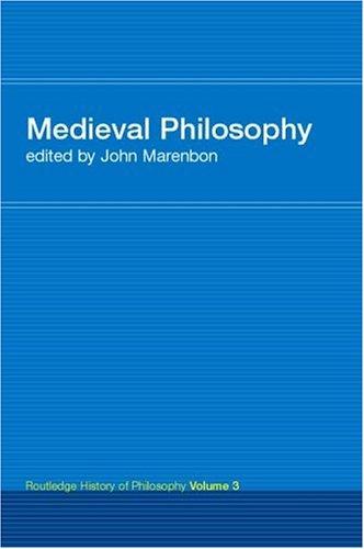 Routledge History of Philosophy Volume III: Medieval Philosophy 9780415308755